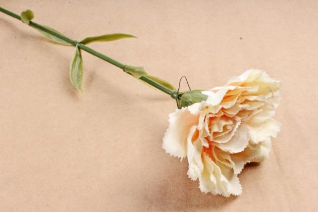 Искусственное растение -  Гвоздика персиковый  SUN005