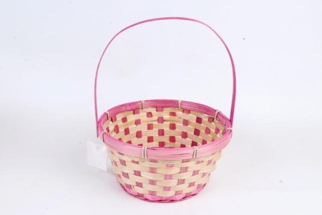 Корзина плетеная (бамбук)   розовый 1173