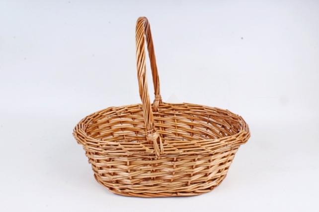Корзина плетеная (ИВА) - Овал медовый  1шт 7513