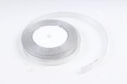 Лента тканная серебрянная 13мм*25 ярдов  RS13/25  МН