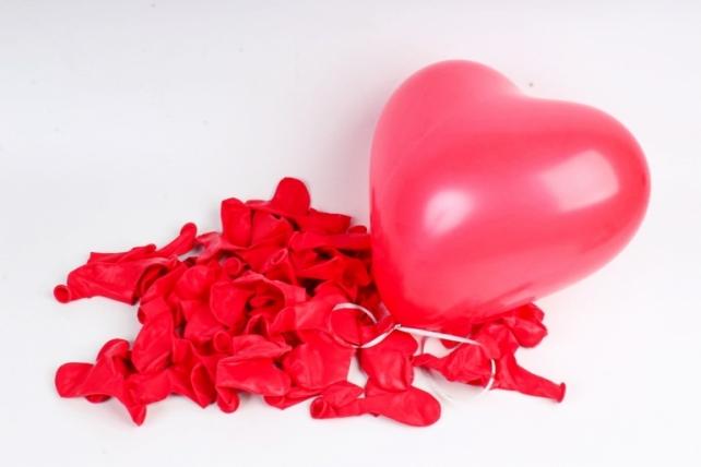 Сердце (12''/30 см) Красный (230), пастель, 100 шт.711300
