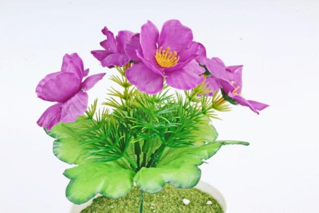 Искусственное растение -  Анемоны лесные фиолетовые   Б10882