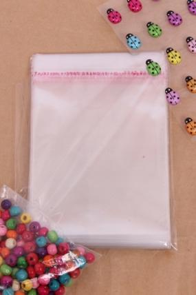 Пакет (Р) прозрачный со скотчем 10х10см (100 шт в уп)