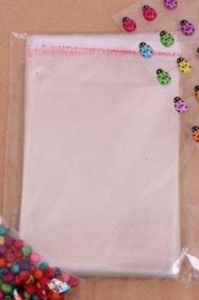 Пакет (Р) прозрачный со скотчем 15х12см (100 шт в уп)