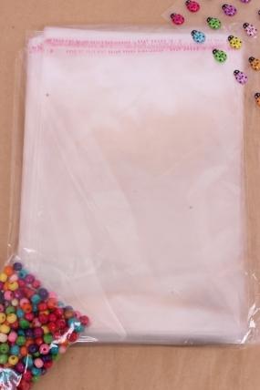 Пакет (Р) прозрачный со скотчем 23*18см (100 шт в уп)