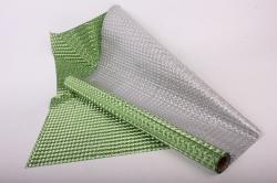 Упаковочная подарочная пленка 50cmx5m зеленый узор