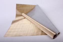 Упаковочная подарочная пленка 50cmx5m золотой бисер