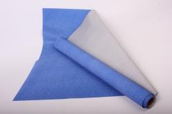 Упаковочная подарочная пленка 50cmx5m синий на метал.основе