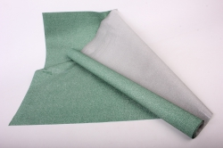 Упаковочная подарочная пленка 50cmx5m темно-зеленый на метал.основе