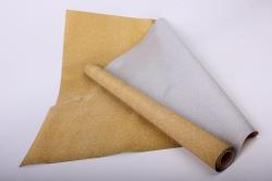 Упаковочная подарочная пленка 50cmx5m янтарный на метал.основе