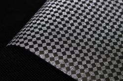 Упаковочная подарочная пленка 50cmx5m серебряный орнамент