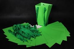 Плайм пакет Конус с ручкой для цветов (12 шт в уп) Салатовый 27*15*9  F9