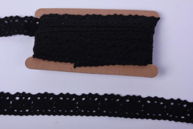 Лента кружево чёрное декор. 3cм*4,6м П 140KRB
