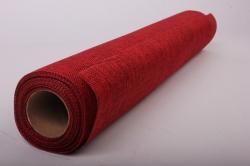 Упаковочный материал Иск. Джут, 50 см х 4,5 м (вишневый 810)