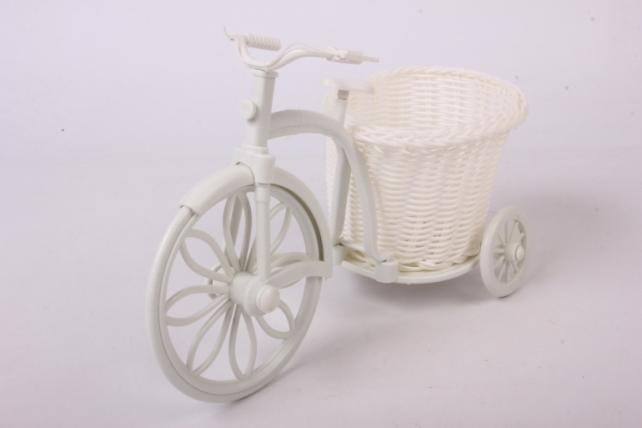 Кашпо Велосипед с корзиной 21*10см плетеный пластик  H1606130  5385