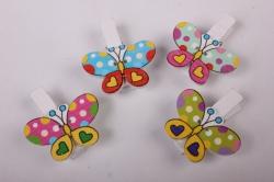 Прищепка  Бабочки (6шт в уп)  6402   D7J0038