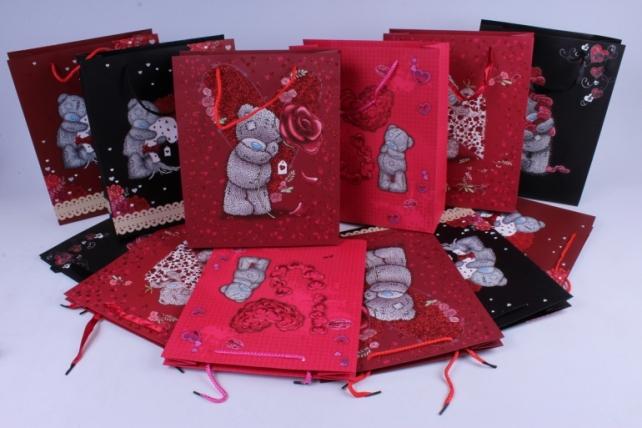 Подарочные пакеты - Сумки Люкс (Мишки Тэдди) микс цена за 1шт. - код 27L