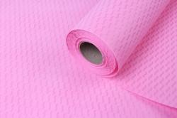 """Водонепроницаемый рельефный фетр """"Волны""""  53 см * 10 м светло-розовый"""