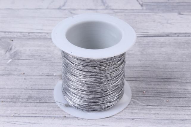 Шнур металл на катушке Серебро