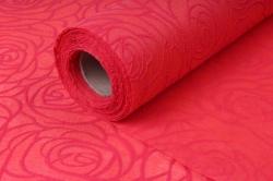 """Материал упаковочный Фетр """"Объёмные розы"""" 58 см*5 м красный"""