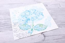 Салфетка декупажная 33х33см  Цветок гортензии синий13309741