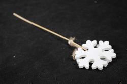 "Вставка Новогодняя ""Снежинка"" Белая дерево 30см (цена за 1шт) 7918"