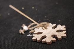 """Вставка Новогодняя """"Снежинка"""" Натуральная дерево 30см (цена за 1шт) 7918"""