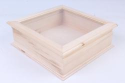Деревянная заготовка - Шкатулка со стеклом