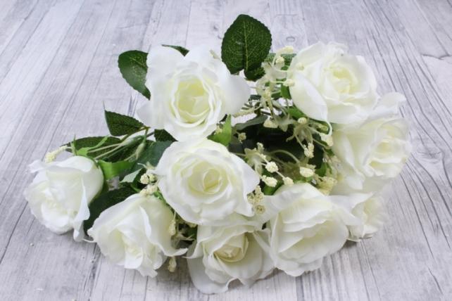 Искусственное растение - Роза букет белая