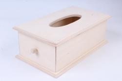 Деревянная заготовка - Салфетница с выдвижным ящиком
