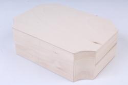 Деревянная заготовка - Шкатулка восьмигранная с резными сторонами