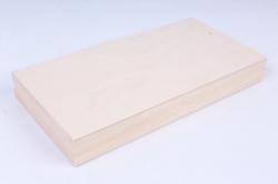 Деревянная заготовка - Шкатулка купюрница без фрезы 18х9см h=2см