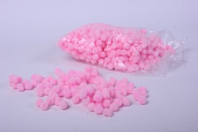1874 помпоны декор. 1,5см  розовые  (1000шт в уп)