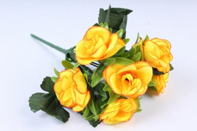 Искусственное растение - Розы неон