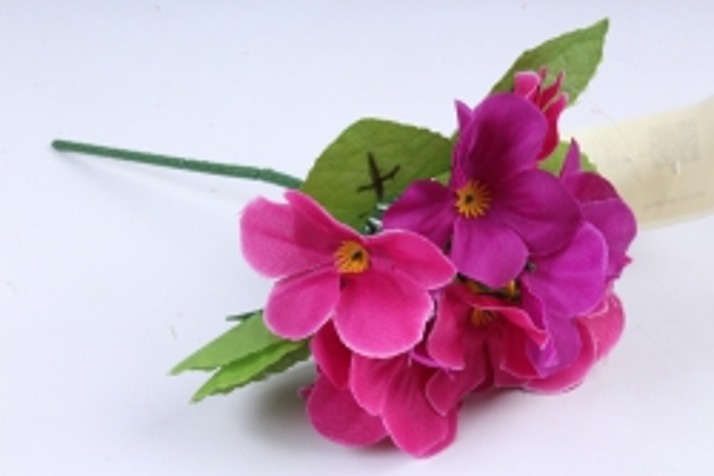 Искусственное растение - Фиалки мини  пурпурные