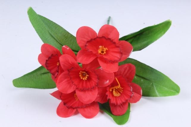 Искусственное растение - Нарциссы  красные