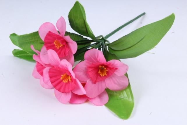 Искусственное растение - Нарциссы малиновые