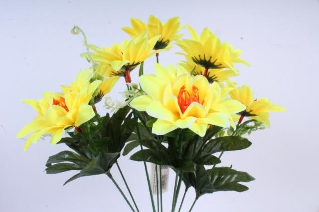 Искусственное растение - Герберы лимонные