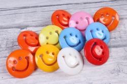 Пуговицы Смайлы цветные малые микс (10шт в уп)