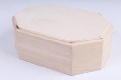 Деревянная заготовка - Шкатулка восьмигранная овальная с фрезой