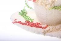 кашпо для цветов 373а кашпо из сизаля чашка на листе (h9 d25см) - белый 2468