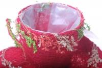 кашпо для цветов 373а кашпо из сизаля чашка на листе (h9 d25см) - красный 2468