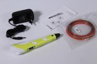 3D ручка желтая + 9м пластика