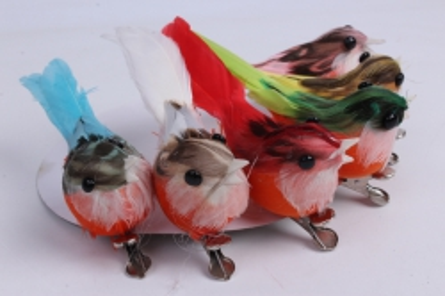 5981 птичка  в круге 7 см на клипсе (12шт в уп) tfb523004