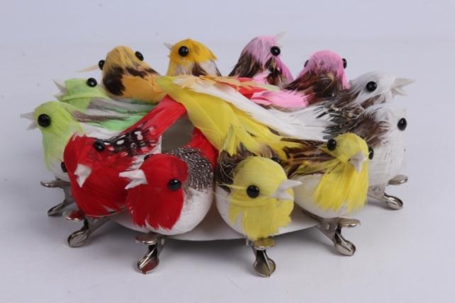 5981 птичка  в круге 7 см на клипсе (12шт в уп) tfb523050