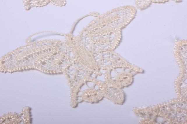 6krb лента кружево натур. декор. бабочки 8 см (10 шт в уп)