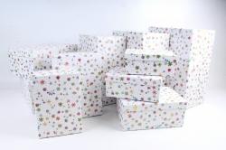 Набор подарочных коробок из 10шт -  Прямоугольник Цветочный бисер К993, 211