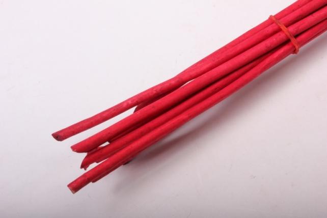 Тинги декор с листиками пр. 120см 1/10шт. красный