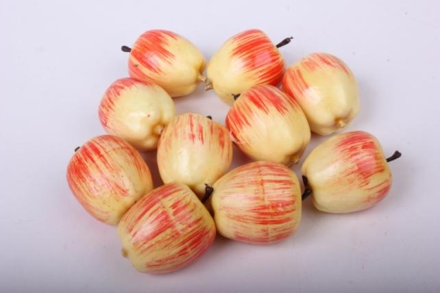 Яблоко красно-белое 3см (10шт)