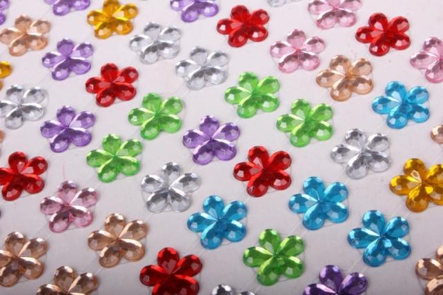 Стразы Цветы мозаика 147шт  DZ551МИКС  4297
